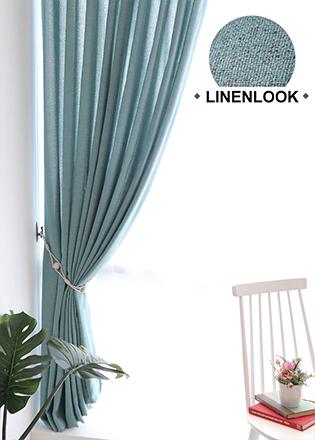 린넨룩 커튼 블루그레이 Y-9502